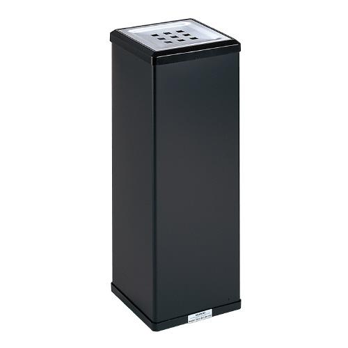 テラモト 消煙灰皿 黒 W210×D210×H570mm SS-255-000-6 (1台)