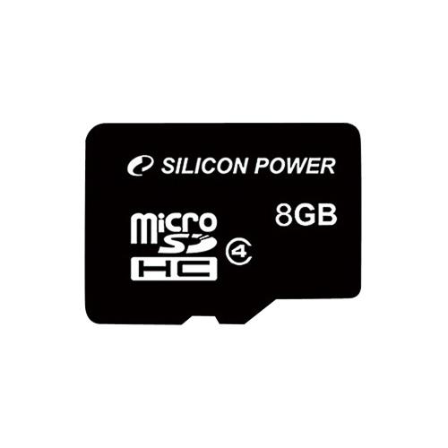 エントリーPt5倍!シリコンパワー microSDHCメモリーカード CLASS4 8GB SP008GBSTH004V1 (1枚)
