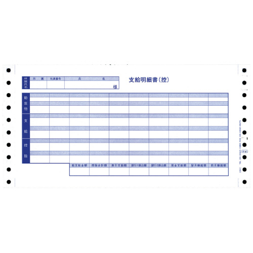 OBC 密封式支給明細書(6016) Y10×T5 300枚 6016 (1箱(300枚入))
