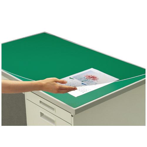 デスクマット(硬質・コクヨ)<机上整理用品<文具・事務用品 コクヨ デスクマット硬質W アクリル製 グリーン 透明 下敷き付 1000×600デスク用 マ-106 (1枚)