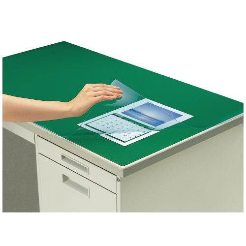 デスクマット<机上整理用品<文具・事務用品 コクヨ デスクマット軟質W(非転写) グレー 透明 下敷き付 1000×600デスク用 マ-406M (1枚)