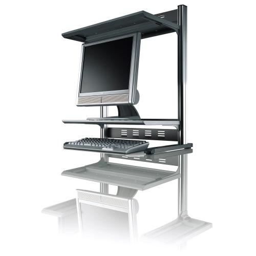 コクヨ モニタシェルフ<RESPACE-F> 棚2段 W600 シルバー EAS-DSF6001NC (1台)