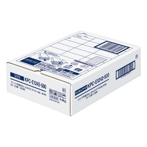 コクヨ プリンタを選ばないはかどりラベル A4 24面 500枚入り KPC-E1242-500 (1箱(500枚入))