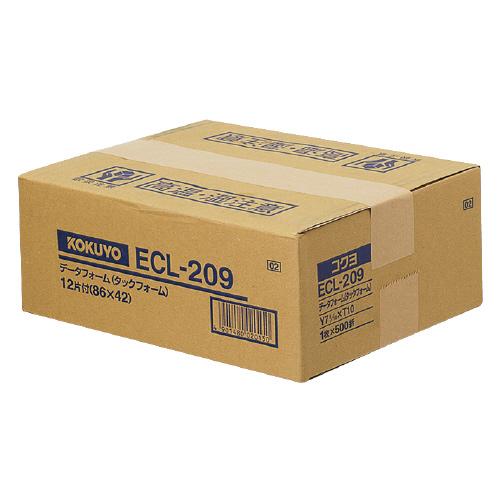 コクヨ 連続伝票用紙<タックフォーム> 500枚 Y7 8/10XT10 12片 ECL-209 (1箱(500枚))