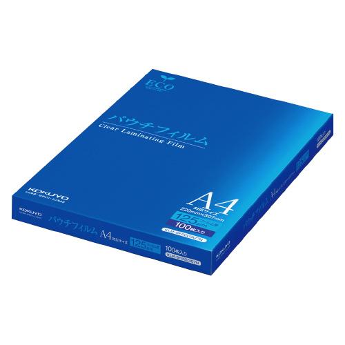 コクヨ パウチフィルム 125ミクロン A4判 100枚入 KLM-SF220307N (1箱(100枚入))