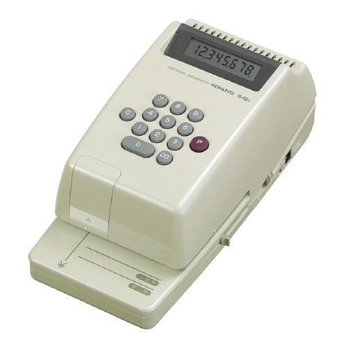 コクヨ 電子チェックライター 8桁 コードレス リピート印字 IS-E21 (1台)