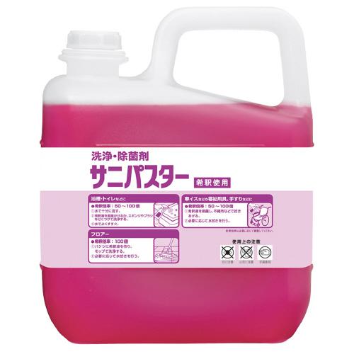 サラヤ 洗浄・除菌剤 サニパスター 5kg 31886 (1本)