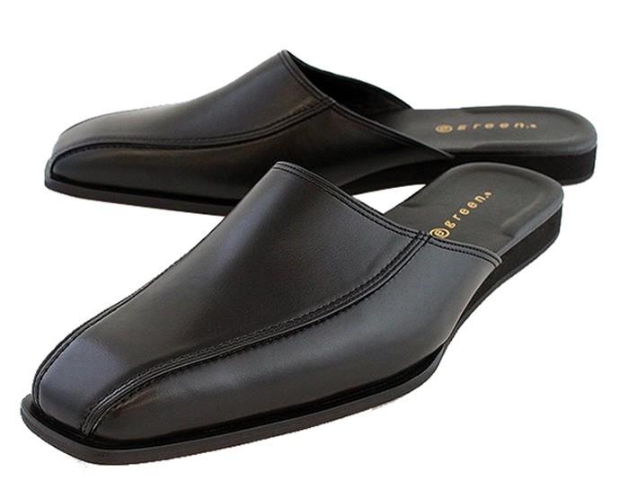 egreen商務拖鞋廣場類型No.6500牛皮、人造革非女式無袖內衣(供E綠色/辦公室使用的/紳士/皮鞋/商務涼鞋/清涼商務/daiporugipurasuai)