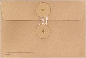 附带MIDORI KRAFT ENVELOPE kurafutoemberoppushirizu卧式带子的M尺寸(绿)
