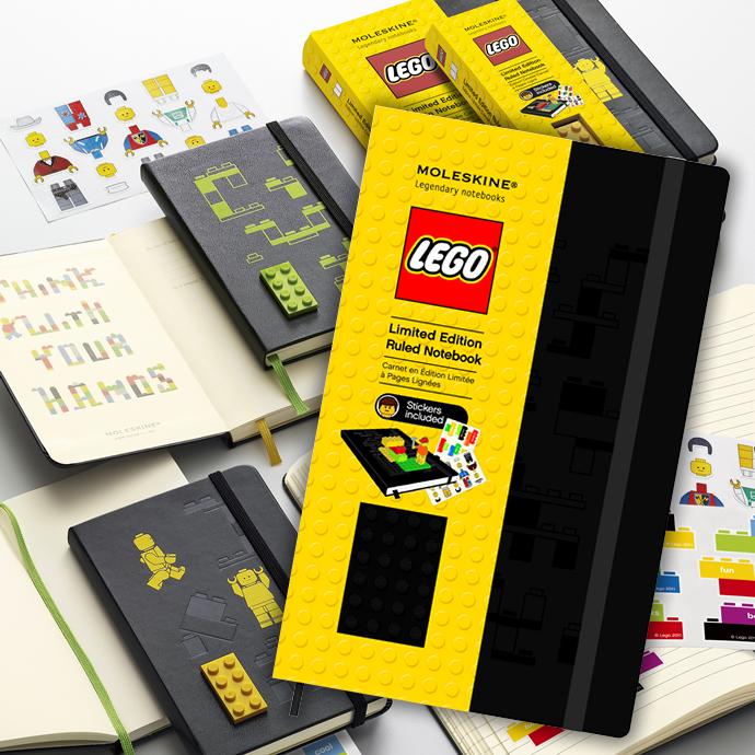 LEGO MOLESKINE notebook ruled lined notebook large (Moleskine and moleskin / borders / note /REGO / LEGO)
