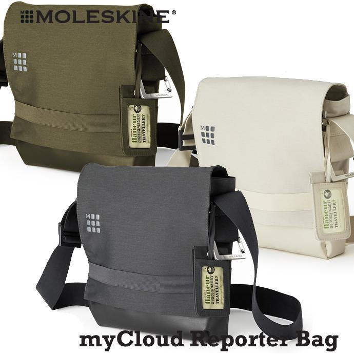 MOLESKINE Moleskine myCloud 袋系列记者袋痛苦灰色 / 柯克短衣,一副记者皮包 / 肩袋 / lesportsac (倾斜袋)