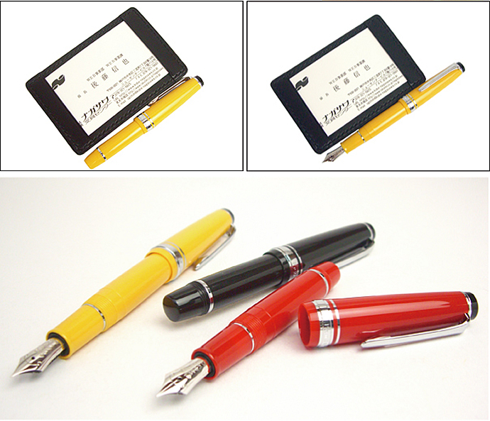 NAGASAWA original fountain pen PenStyle Memo ( Nagasawa / shipping / soon / note / fine EF / fine F / applicator MF / sailor fountain pen /sailor / sailor / black black / red red / yellow yellow / gift / gifts / gift )