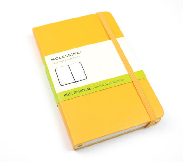 Wrapping free ☆ MOLESKINE plain notebook (white) Moleskine and moleskin / Cara note / Orange / bitter orange / yellow orange yellow Pocket