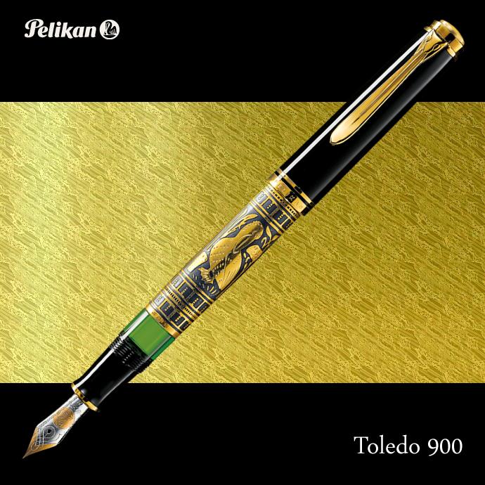 スーパーセール限定pt最大10倍/ペリカン 万年筆 トレド M900 18金ペン先 ピストン吸入式 FP