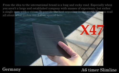 X47 A6Timer A6タイマー 牛革スリムラインタイプ