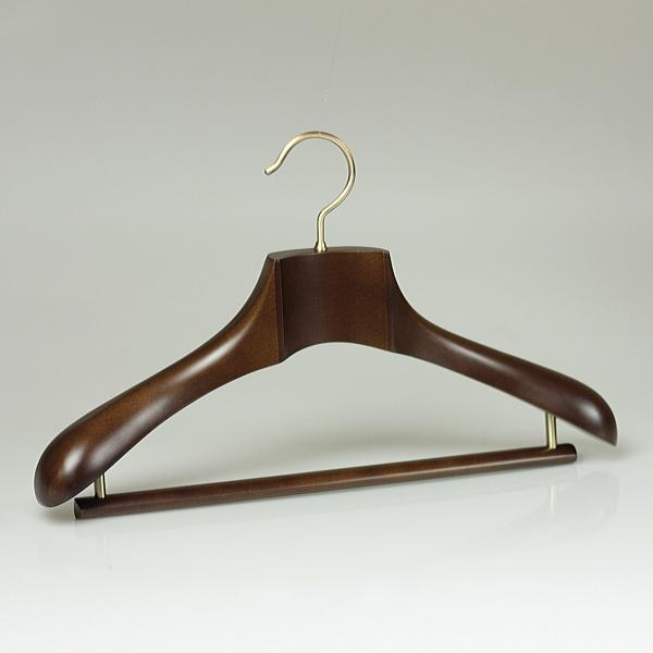 木製 ハンガー スーツ メンズ 高級 コート 型崩れ 最高級木製ハンガー プレジデントハンガーNEO W46cm ブラウン PRN-46BR HANGER 名入れ可