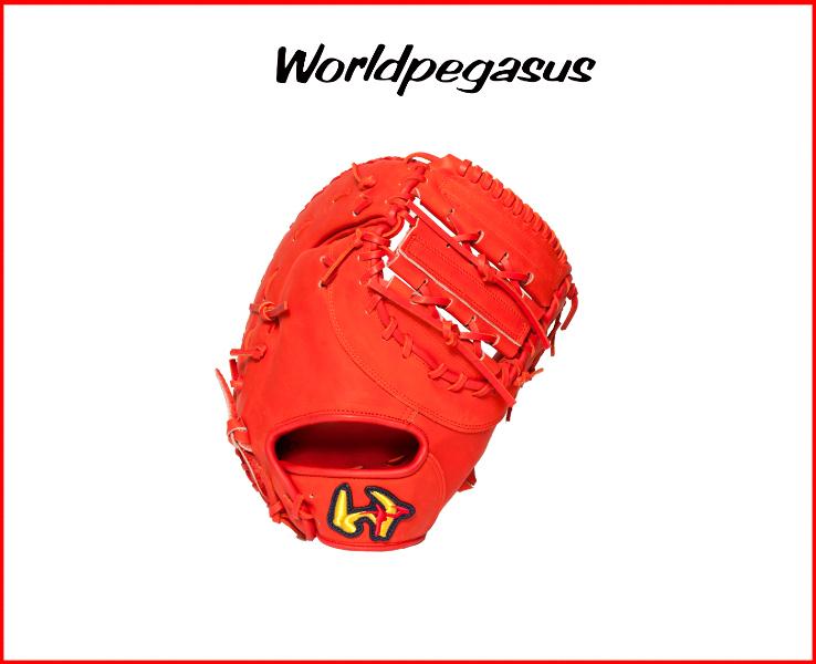 ワールドペガサス 硬式グローブ、ミット 一塁ファーストミット 硬式フィールドマスター WGKFM830(22.ディープオレンジ) 高校