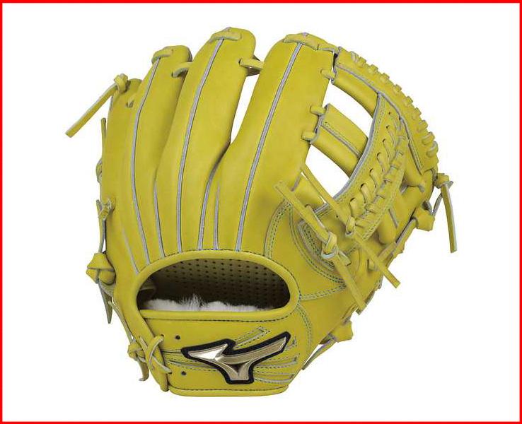 ミズノ 硬式野球 グローブ グローバルエリート Hセレクション02 1AJGH18303(40.ナチュラルライム) サイズ:8 内野手