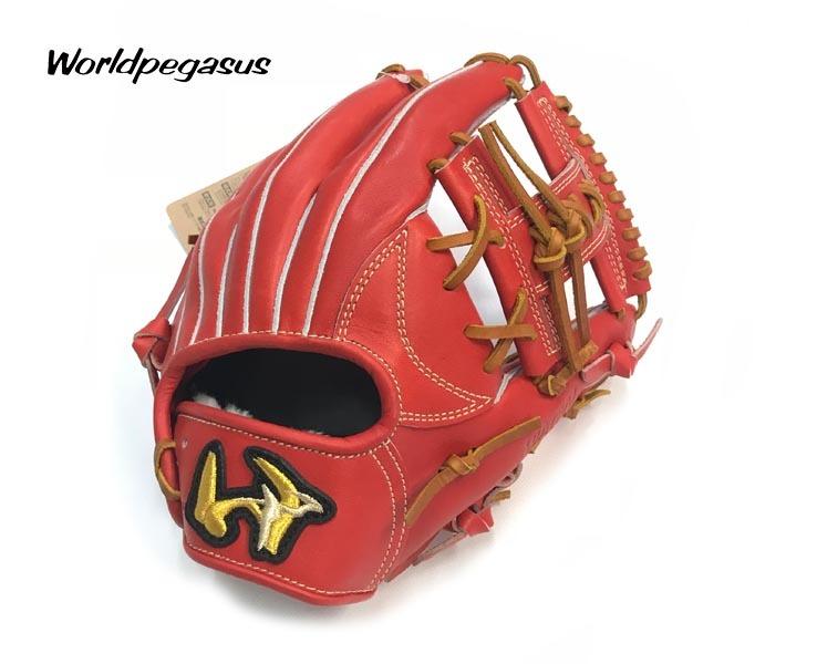 ワールドペガサス 硬式グローブ 内野手用グローブ 硬式野球 グローブ WGKGP841(22.ディープオレンジ) サイズ5(28.0cm) 右投げ 高校野球対応