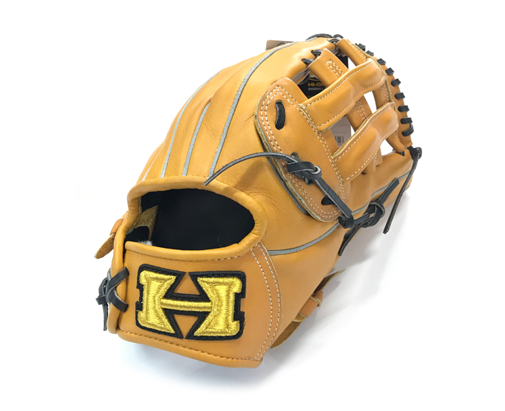 ハイゴールド 硬式グローブ 外野手用 野球 アウトフィールダー ナチュラル×ブラック 限定品 高校野球対応