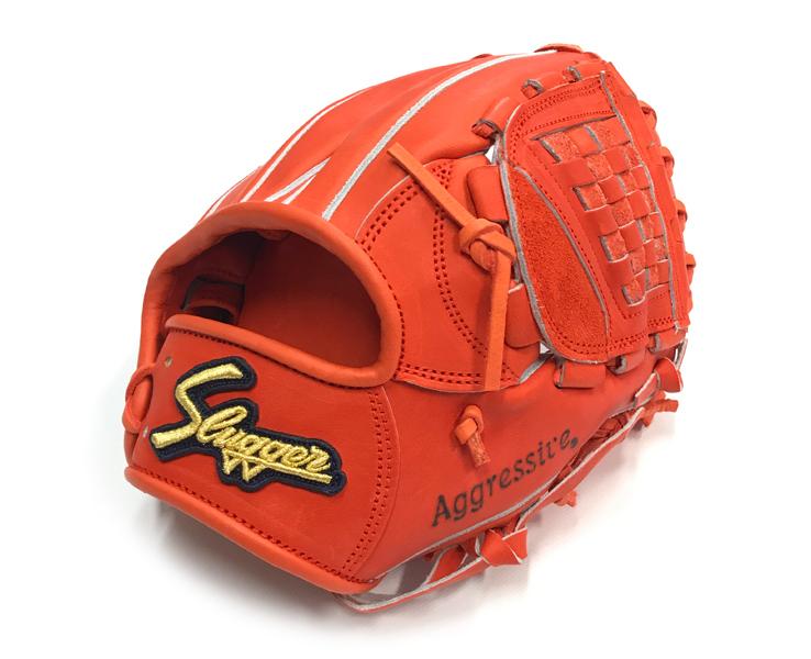 久保田スラッガー 硬式グローブ ソフトボール グローブ 内野手オールラウンド KSG-MP1(Fオレンジ×Fオレンジ) 右投げ 日本製 ピッチャー使用可能