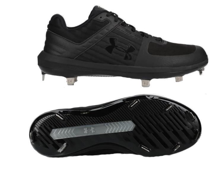 アンダーアーマー 野球スパイク 金具スパイク 樹脂底スパイク スパイク 3022131(ブラック) 高校 中学 一般