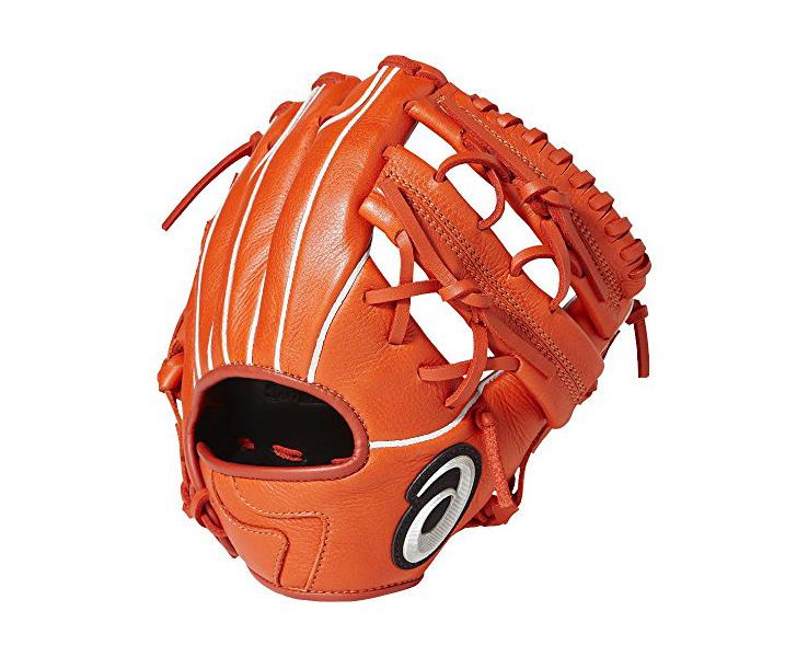 アシックス 少年軟式グローブ ジュニア 野球グローブ スターシャイン BGJ8YS(600.Rオレンジ) 右投げ 特小