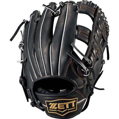ゼット ウイニングロード 軟式野球 グローブ 内野手用 BRGB33820(1900.ブラック) 高校野球対応 右投げ 天然皮革 型付けサービス