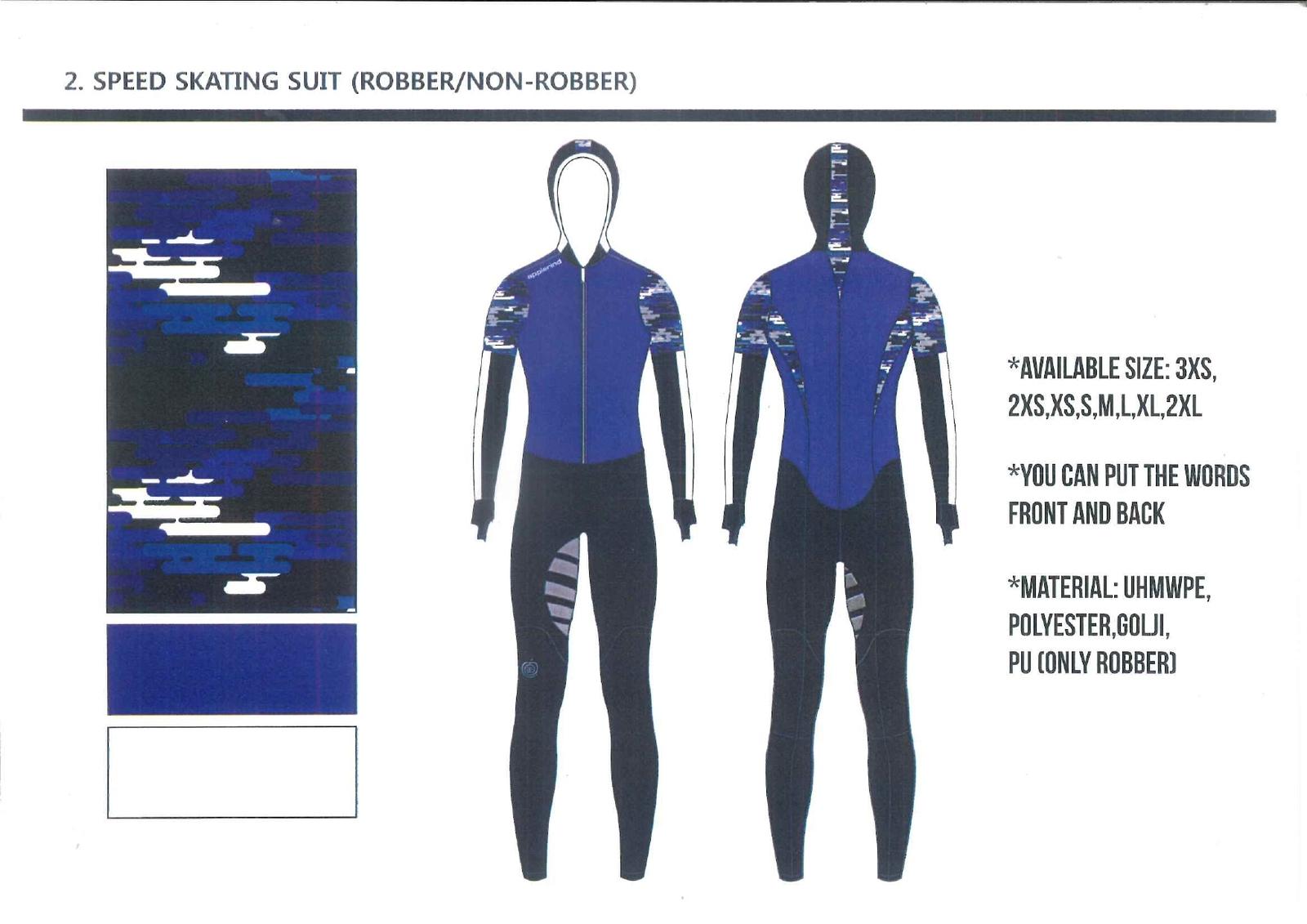 予約販売 スピードスケート ワンピース レーシングスーツ アプルラインド ネイビーブルー×ホワイト 伸縮性抜群 長峰スポーツ