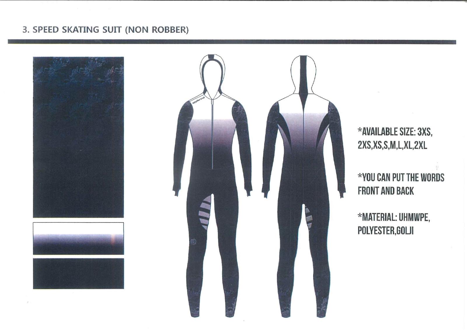 予約販売 スピードスケート ワンピース レーシングスーツ アプルラインド ブラック 伸縮性抜群 長峰スポーツ
