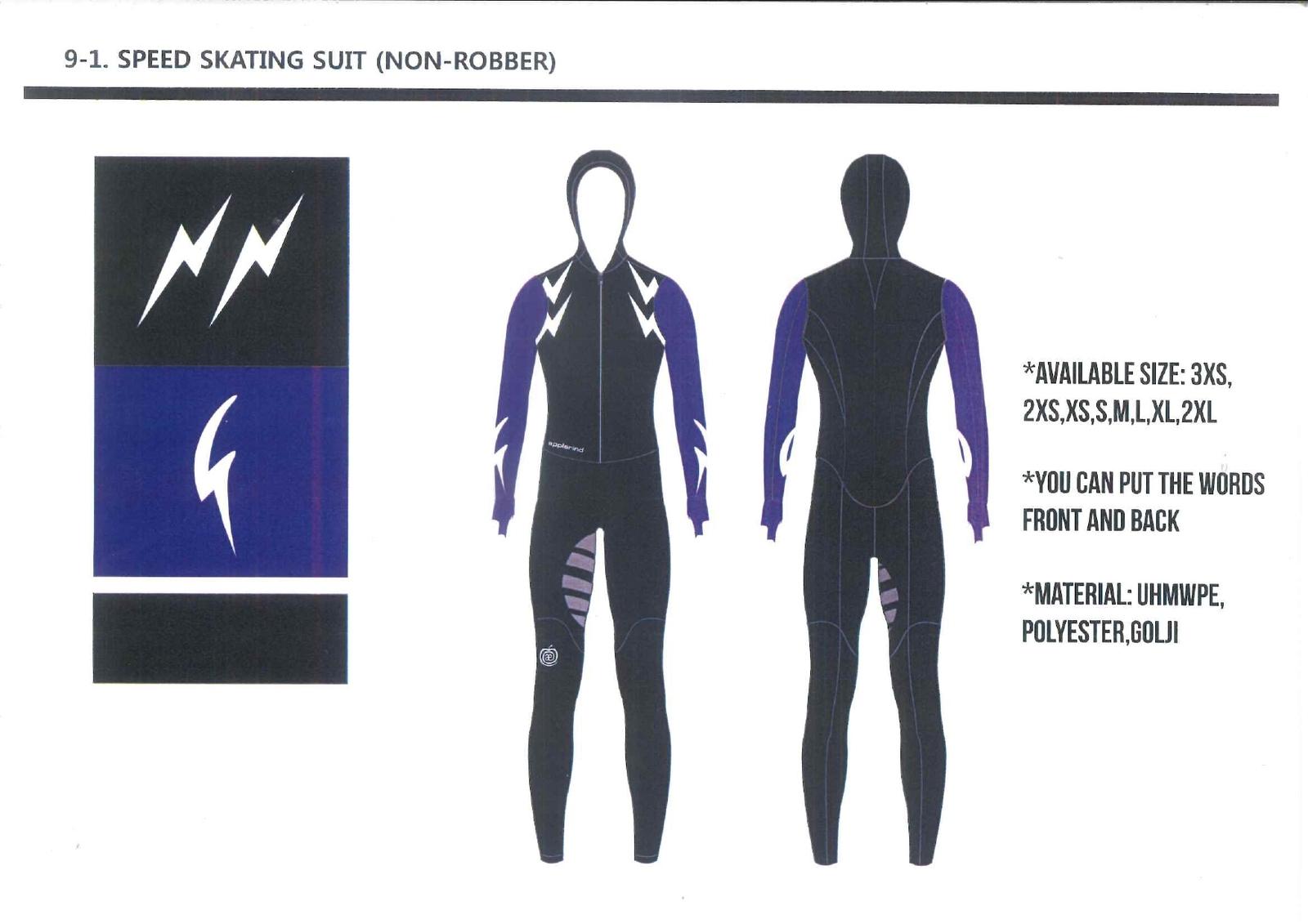 予約販売 スピードスケート ワンピース レーシングスーツ アプルラインド 伸縮性抜群 長峰スポーツ