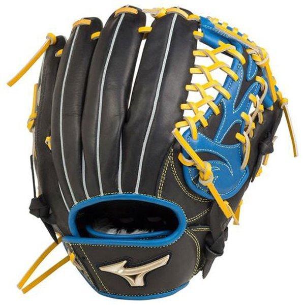 ミズノ 野球 一般用 軟式グローブ グローバルエリート UMiX U2 投手 外野 1AJGR20610(0922.ブラック×ロイヤルブルー)右投げ
