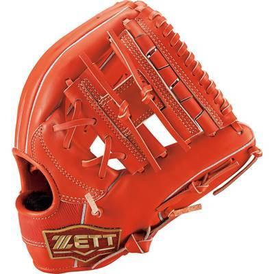 ゼット ZETT ネオステイタス 軟式グローブ ソフトボール 内野オールラウンド グラブ 一般 高校 中学 BRGB31020 ディープオレンジR 右投げ
