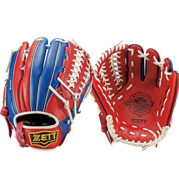 ゼットZETT/リアライズシリーズソフトボール用グラブグローブ/BSGB52720(6423.レッド×ブルー)右投げ内野手オールラウンド