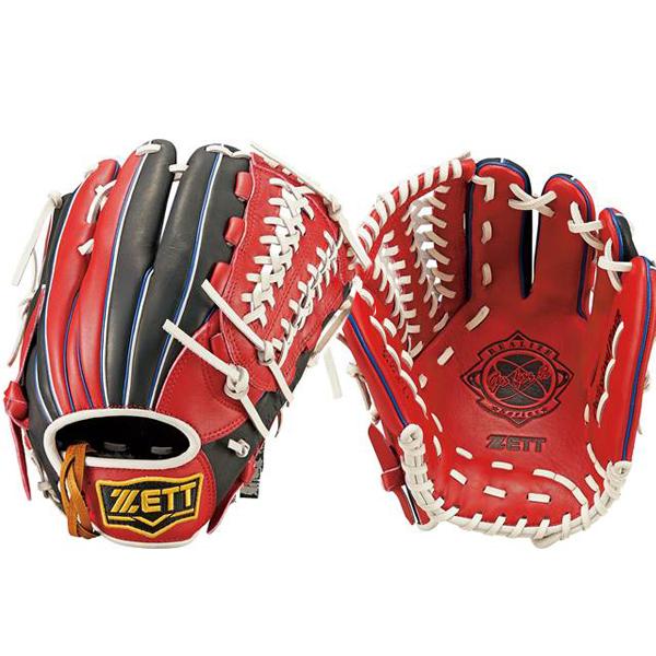 ゼットZETT/リアライズシリーズソフトボール用グラブグローブ/BSGB52720(6419.レッド×ブラック)右投げ内野手オールラウンド