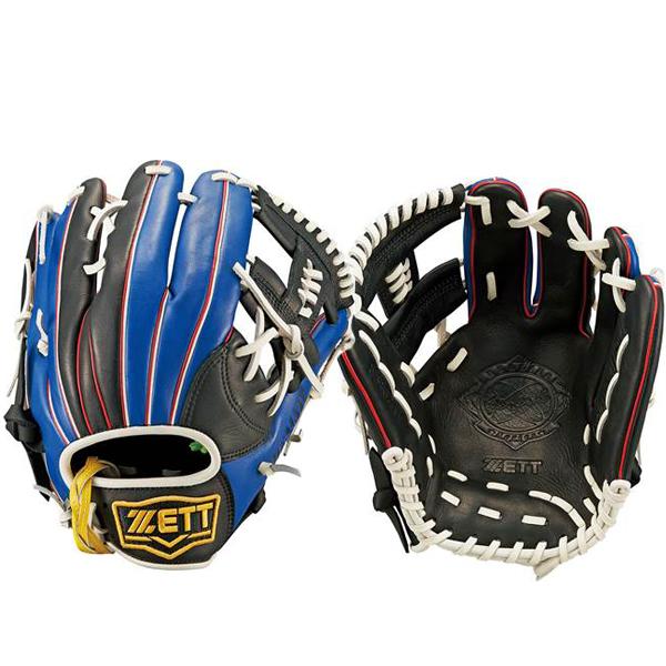 ゼットZETT/リアライズシリーズソフトボール用グラブグローブ/BSGB52710(1923.ブラック×ブルー)右投げ内野手オールラウンド