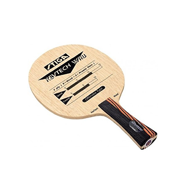 シェークハンド卓球ラケット スティガ ケブテック WRB FLA 5枚合板(2枚アラミド使用)