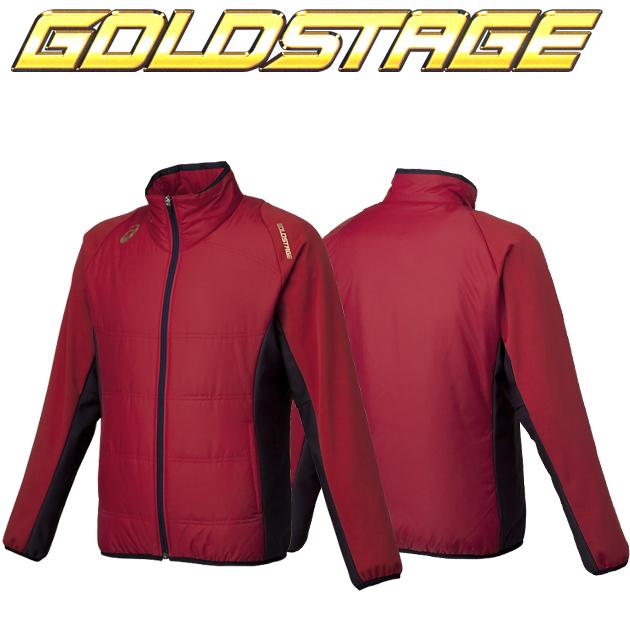 アシックス ゴールドステージ ブレードキルトジャケット BAW152(2350.レッド×ネイビー)