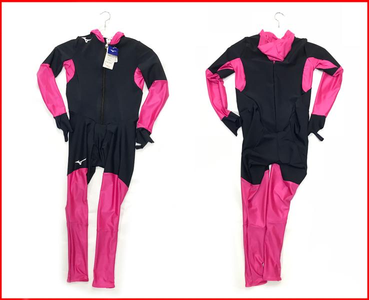 ジュニア スピードスケートワンピース ミズノ レーシングスーツ Z2JH8E34 ネイビー×ピンク