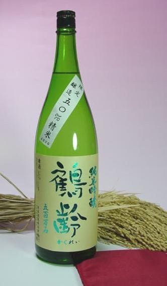 鶴齢純米吟醸新潟五百万石精白50%無濾過生原酒1.8L 入荷予定 ギフ_包装