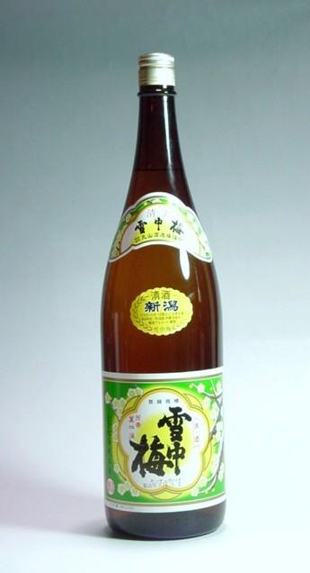 雪中梅普通酒1.8L 付与 別倉庫からの配送