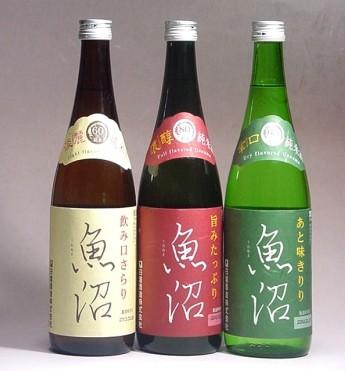 売れ筋 卓抜 純米にこだわった…まったくタイプの違う酒質の 魚沼 をお楽しみいただけます… 純米魚沼三本セット 送料無料
