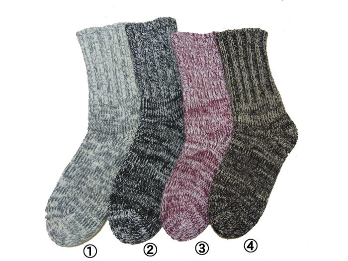 保温性に優れた厚手の防寒用靴下です 極太の毛糸で編んだ口ゴムなし靴下です 日本製 当社自社工場 ウールショートソックス 暖かい靴下 現品 販売実績No.1 保温靴下 防寒用靴下