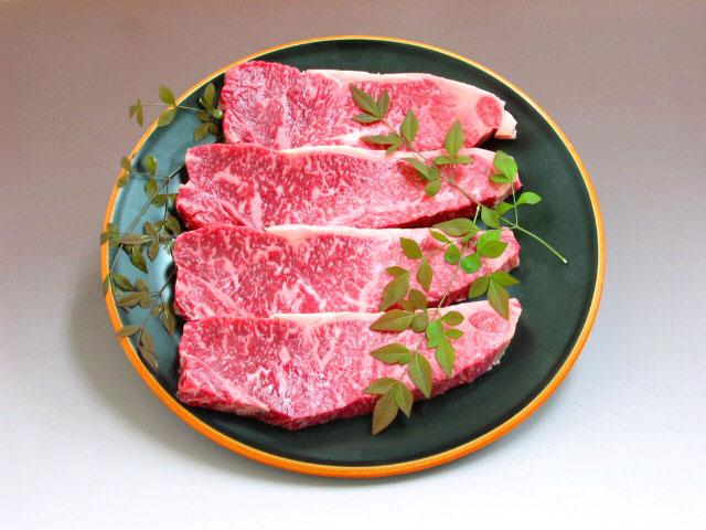 ひむか黒牛ロースステーキ 180g×4