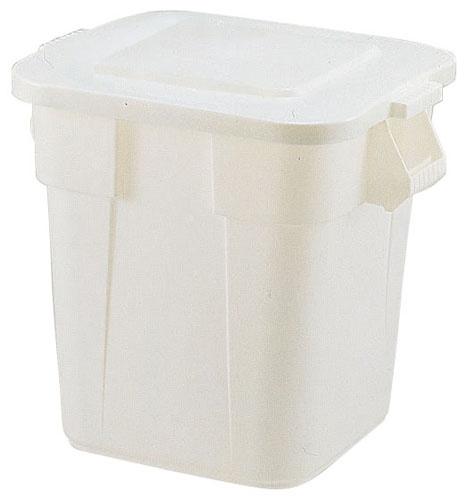 スクエア・ブルートコンテナ No.3526 ホワイト 6-1261-0302 5-1155-0302【コンテナ ゴミ箱 頑丈 廃棄物 容器 大型 持ち手付き 厨房用品 新品 販売 通販】[10P03Dec16]