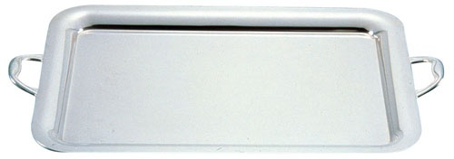UK18−8プレーンタイプ角盆 30インチ(手付) 6-1537-0107 5-1385-0107[10P03Dec16]