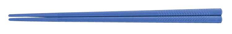PETすべり止め付彫刻入箸(100膳入) PT−215 ブルー 6-1642-0505 5-1488-0505[10P03Dec16]