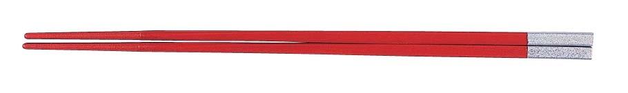PBT和洋中角箸 シルバー(10膳入) 朱 85915570  6-1643-1403 5-1489-1403[10P03Dec16]