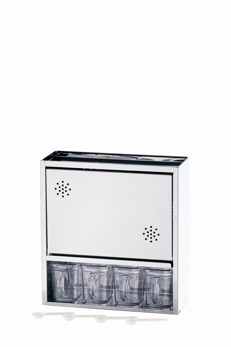 18-0 スパイスラック 4杯 6-0205-1001 5-0179-0901【厨房用品 調理器具 キッチン用品 キッチン 格安 特価 新品 販売 通販】[10P03Dec16]