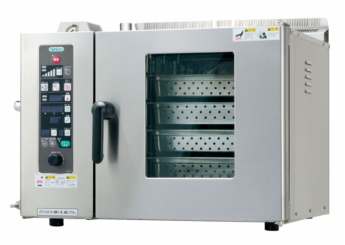 電気卓上型スチームコンべクションオーブン TSCO-4EBN3 [運賃別途お見積り][メーカー直送 代引き不可] 6-0631-0401 5-0565-0401